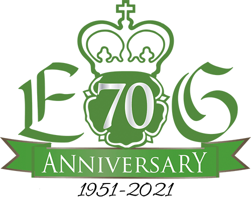 The Elizabethan Gardens 70th Anniversary Logo